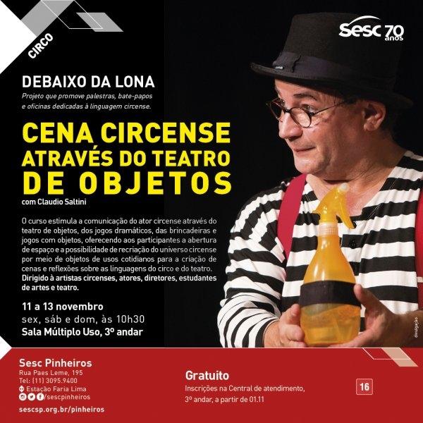 OFICINA: Cena circense – Através do teatro de objetos